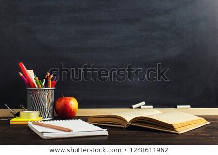 Apple book glasses Stock photo © Trigem4