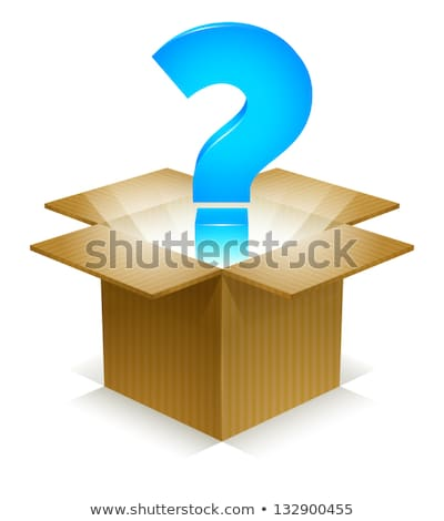 Opened gift box with with the question mark symbol inside Stock photo © Pixelchaos