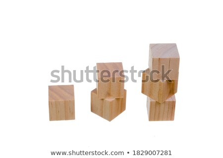 building blocks in wood play block letters against white stock photo © morrbyte
