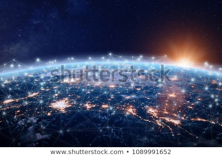 Stockfoto: Servers · communicatie · internet · wereld · server · wereldbol
