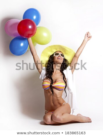 bikini · caucásico · mujer · tiro · sexy · moda - foto stock © aremafoto