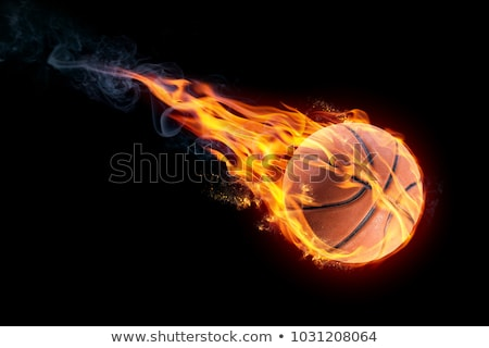 basquetebol · bola · fogo · chamejante · voador · ar - foto stock © m_pavlov