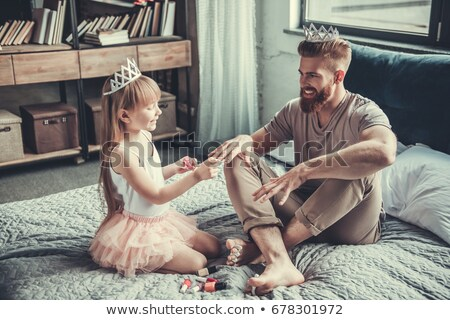 Portraits of a man, a woman and a little girl stock photo © photography33