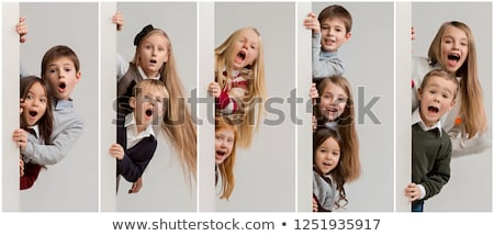Peeking Kid Stock photo © lenm