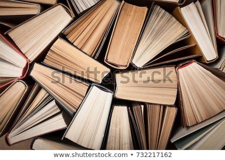 oude · boeken · Rood · leder · kunst - stockfoto © theprophet