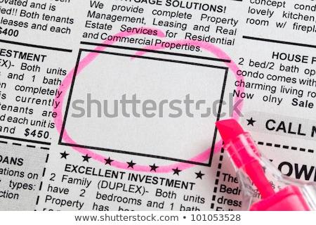 anuncio · falso · periódico · negocios · Trabajo - foto stock © devon