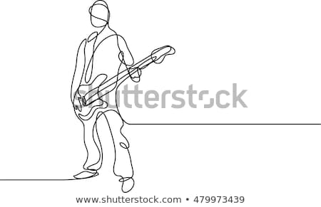 An enthusiastic guitar player Stock photo © photography33