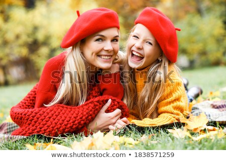 Attractive woman in a beret Stock photo © photography33