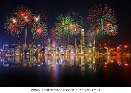 Chinese New Year Fireworks in Hong Kong Stock photo © kawing921
