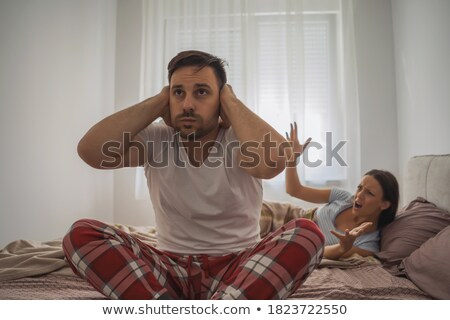 Husband and wife sleeping on their couch Stock photo © photography33