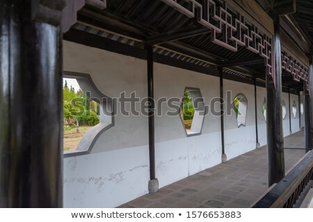 Stock photo: Walkway Architectural Detail in Chinese Garden