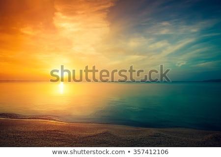 海 · 日没 · 空 · 美しい · 劇的な · 色 - ストックフォト © sbonk