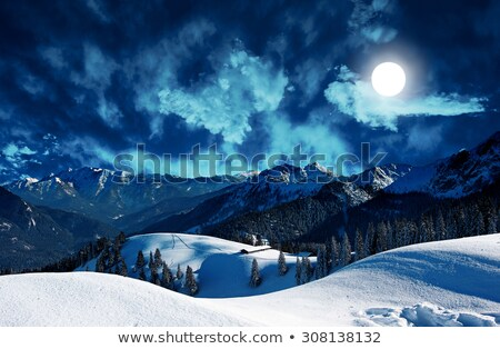 Donkere humeurig wolk gedekt volle maan een Stockfoto © scheriton