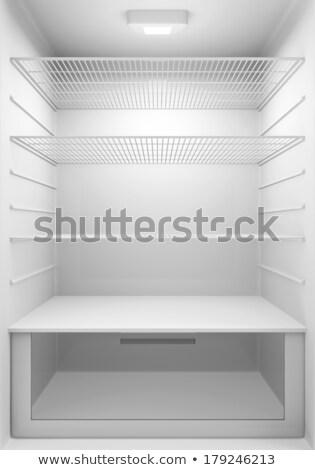 empty white refrigerator Stock photo © ozaiachin
