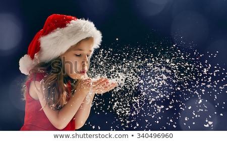 küçük · kız · Noel · zaman · mutlu · kız · el · yapımı · dekorasyon - stok fotoğraf © ilona75