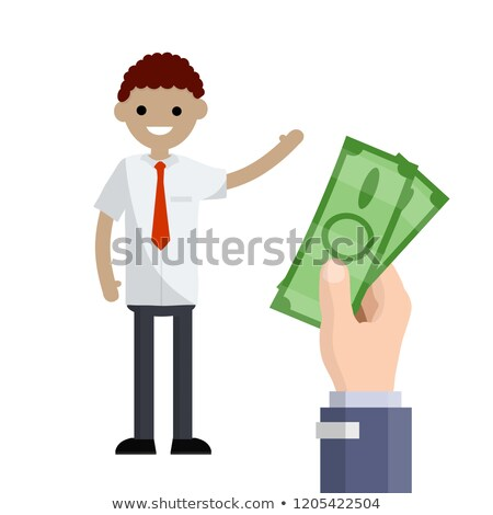 take the money paid on an isolated  Stock photo © OleksandrO