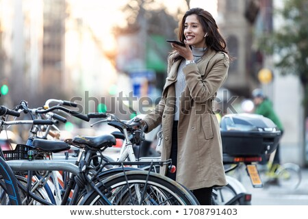 pretty brunette girl enjoys traveling  Stock photo © OleksandrO