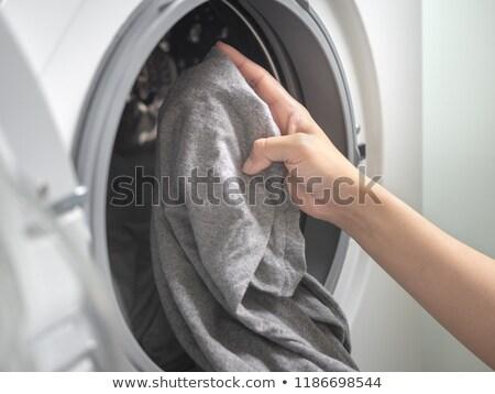 Mulher lavanderia branco casa trabalhar Foto stock © wavebreak_media