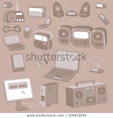 Mobiele telefoon hoog kwaliteit hand ontwerp Stockfoto © jeremywhat