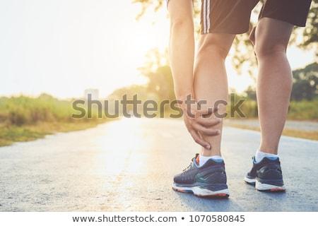 работает травма ногу лодыжка более спорт Сток-фото © blasbike