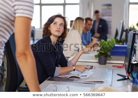 brunette in an open plan office stock photo © photography33