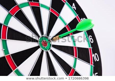 Zöld darts jókedv nyíl játék ötlet Stock fotó © shutswis