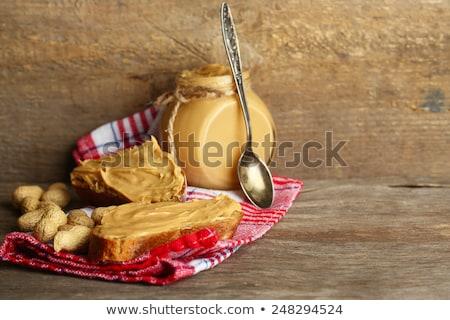 арахис деревянный стол природы еды тень осень Сток-фото © deymos