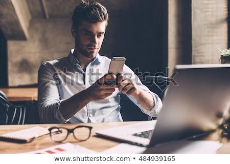 portret · advocaat · praten · telefoon · business · zakenman - stockfoto © feedough