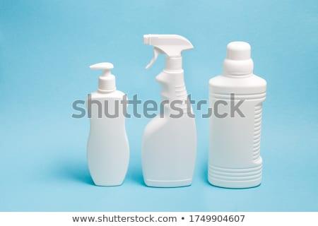 Plastique bleu eau isolé blanche Photo stock © boroda