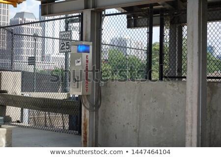 Sos sygnał pociągu na zewnątrz skupić pionowy Zdjęcia stock © ABBPhoto