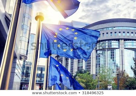 ヨーロッパの · 組合 · フラグ · 議会 · フラグ · ぼやけた - ストックフォト © artjazz