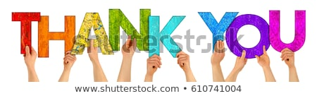 thank you conceptual word stock photo © ansonstock