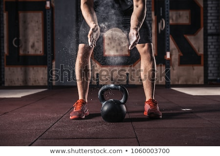 kettlebell crossfit workout on the gym Stock photo © dacasdo