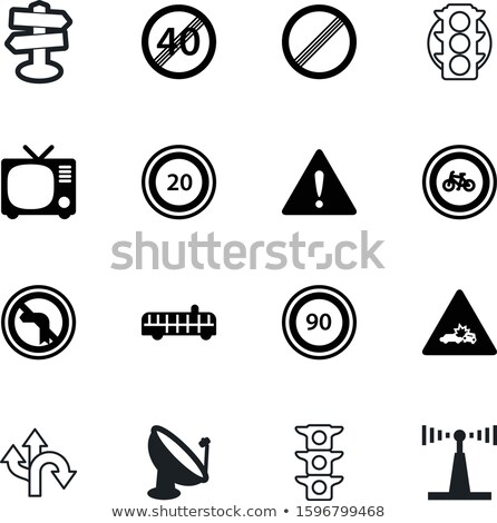 Television with guidepost Stock photo © zzve