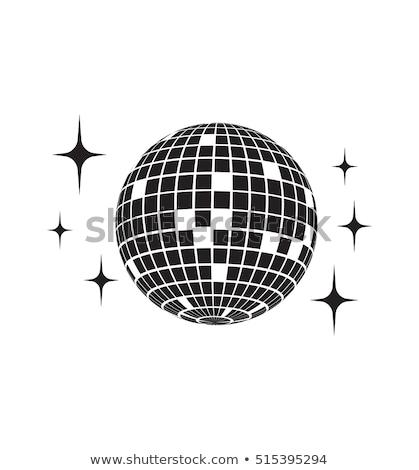 Foto stock: Retro · elementos · discoball · dança · bola · cor