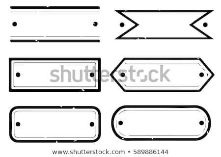 Rectangle étiquettes papier web bleu magasin Photo stock © jelen80