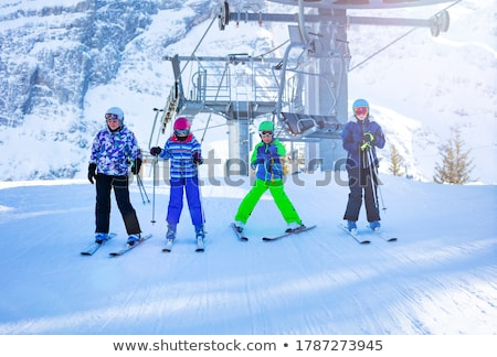 Belle fille alpine ski femmes mode neige Photo stock © orensila