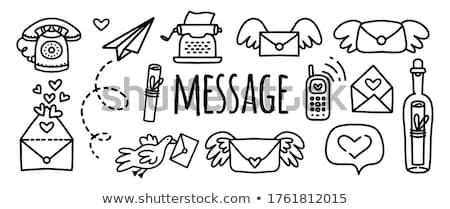 message birds set stock photo © lordalea