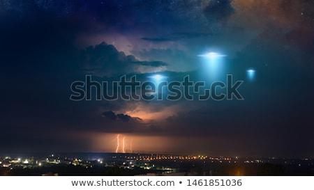 Ufo ficção científica ilustração céu espaço navio Foto stock © guffoto