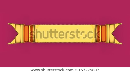 Golden blank ribbon with ripples useful as badge or emblem  Stock photo © Arsgera