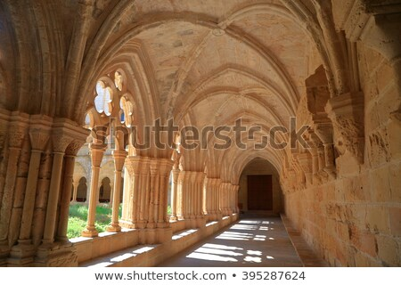 Old wall of the Santa Maria de Poblet cloister, Spain Stock photo © Nobilior