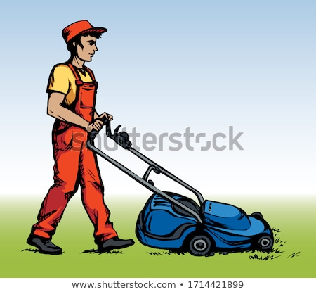 scythe clip art cartoon illustration Stock photo © izakowski