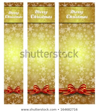 Snowflakes Christmas Gold Web Banners easy to modify Stock photo © fenton
