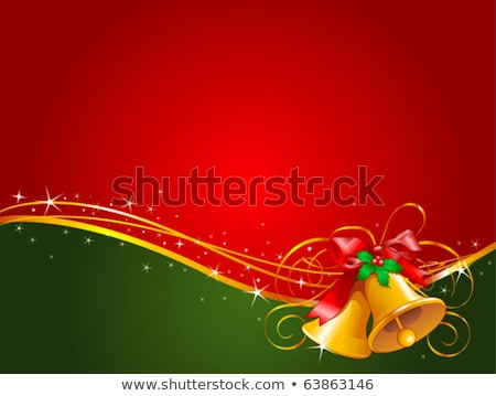 diamond christmas bell greeting card vector stock photo © carodi