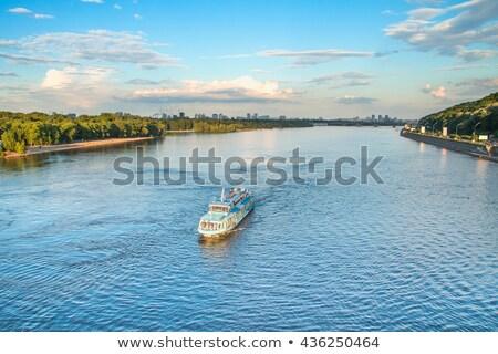 rivier · bouw · landschap · brug · Blauw - stockfoto © Alenmax