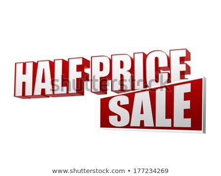 half price sale in 3d letters and block stock photo © marinini