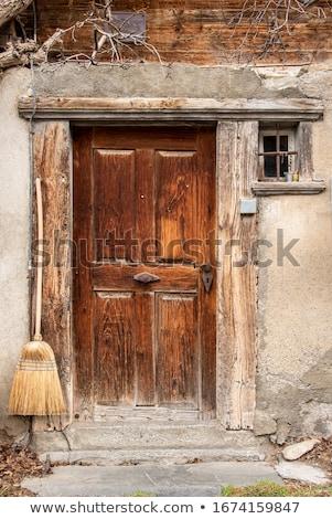 старые парадная дверь ногти дома текстуры Сток-фото © IMaster