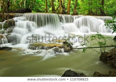 water fall hua mae kamin level 6 kanchanaburi thailand stock photo © tungphoto