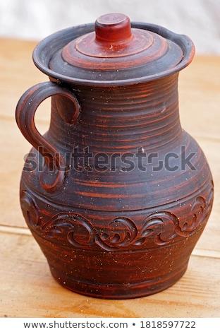 Kicsi kézzel készített közelkép rusztikus fából készült narancs Stock fotó © zhekos