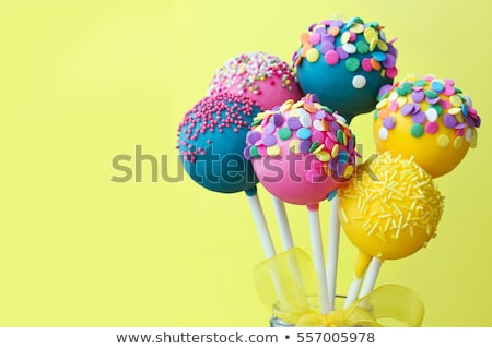 Stock photo: colorful cake pops